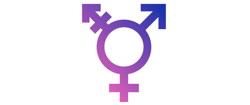 Gender reassignment sex change surgery symbol